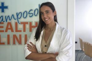 Noelia Carrión Hernández at the camposol health clinic