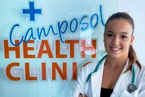 Dra. Irene Saura at the camposol health clinic
